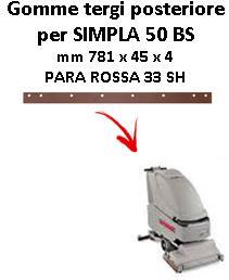 SIMPLA 50 BS Hinten sauglippen für scheuersaugmaschinen COMAC