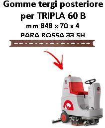 TRIPLA 60 B Hinten sauglippen für scheuersaugmaschinen COMAC