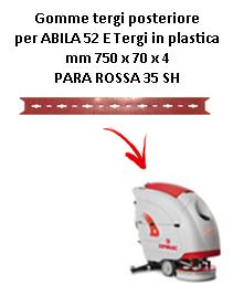 ABILA 2010 52 ünd Hinten sauglippen für scheuersaugmaschinen COMAC