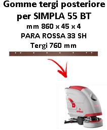 SIMPLA 55 BT Hinten sauglippen für scheuersaugmaschinen COMAC