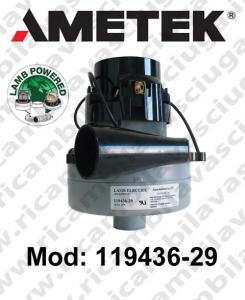 119436-29 Saugmotor LAMB AMETEK für scheuersaugmaschinen Tangentialmotor mit saugkupplung