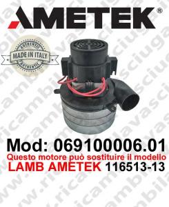 069100006.01 Saugmotor AMETEK ITALIA für scheuersaugmaschinen
