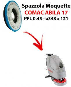 ABILA 17 Bürsten moquette für scheuersaugmaschinen COMAC