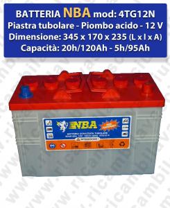 4TG12N Blei Batterie 12V 120Ah 20/h NBA