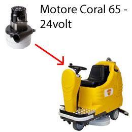 Coral 65 - 24 volt MOTEUR ASPIRATION AMETEK autolaveuses Adiatek