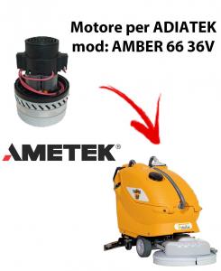 Amber 66 - 36 volt MOTEUR ASPIRATION AMETEK ITALIA pour autolaveuses Adiatek