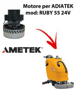 RUBY 55 24 volt. MOTEUR ASPIRATION AMETEK ITALIA pour autolaveuses Adiatek