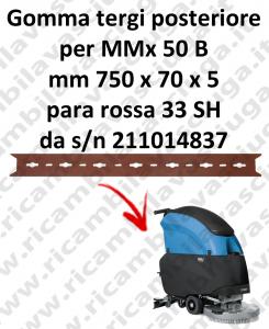 MMx 50 B Hinten Sauglippen für scheuersaugmaschinen FIMAP
