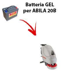 BATTERIE pour ABILA 20B autolaveuses COMAC