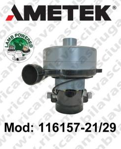 Moteur aspiration LAMB AMETEK Model 116157-21/29 pour autolaveuses