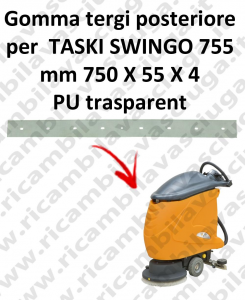 SWINGO 755 Hinten Sauglippen für scheuersaugmaschinen TASKI
