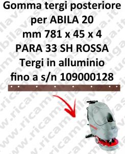 ABILA 20 bis zur Seriennummer 109000128 Hinten sauglippen für scheuersaugmaschinen COMAC