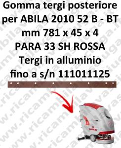 ABILA 2010 52 B - BT bis zur Seriennummer 111011125 Hinten sauglippen für scheuersaugmaschinen COMAC