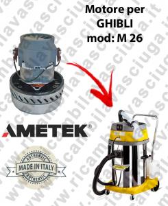 M 26 Saugmotor AMETEK für Staubsauger GHIBLI