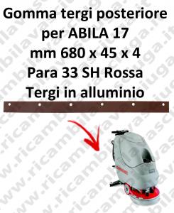 ABILA 17 BAVETTE ARRIERE pour COMAC rechange autolaveuses suceur