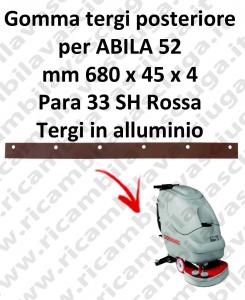 ABILA 52 BAVETTE ARRIERE pour COMAC rechange autolaveuses suceur