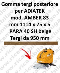 AMBER 83 BAVETTE ARRIERE pour autolaveuses ADIATEK (suceur long 950 mm)