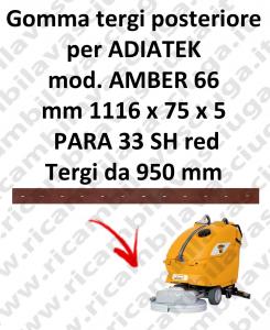 AMBER 66 BAVETTE ARRIERE pour autolaveuses ADIATEK (suceur long 950 mm)
