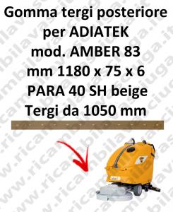 AMBER 83 BAVETTE ARRIERE pour autolaveuses ADIATEK (suceur long 1050 mm)