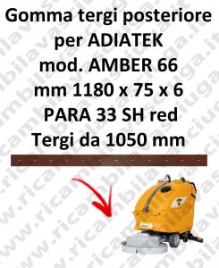 AMBER 66 BAVETTE ARRIERE pour autolaveuses ADIATEK (suceur long 1050 mm)