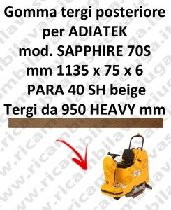 SAPPHIRE 70S BAVETTE ARRIERE pour autolaveuses ADIATEK (suceur long 950 mm)