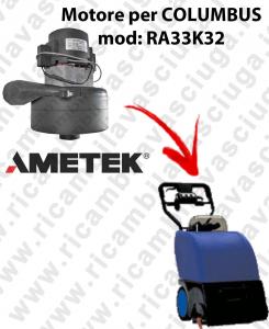 RA33K32 Saugmotor AMETEK für scheuersaugmaschinen COLUMBUS