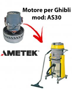 AS30  MOTEUR ASPIRATION AMETEK pour aspirateur et aspirateur à eau GHIBLI