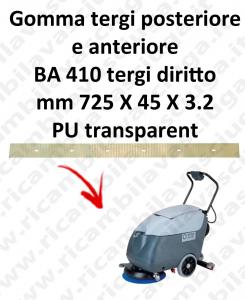BA 410 BAVETTE ARRIERE AVANT pour autolaveuses droit Nilfisk