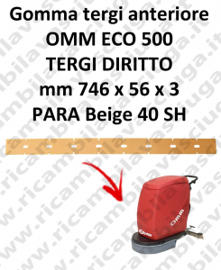 ECO 500 gerade saugbalken Vorne sauglippen für scheuersaugmaschinen OMM