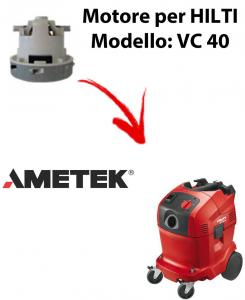 VC 40 automatic MOTEUR ASPIRATION AMETEK pour aspirateur HILTI
