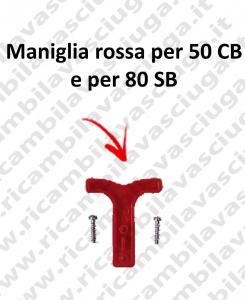 Griff Rot für 50 CB und für 80 SB komplett mit befestigungsschrauben