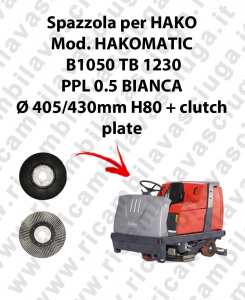 HAKOMATIC B1050 TB1230 Bürsten für scheuersaugmaschinen HAKO