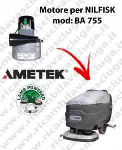 BA 755 MOTEUR ASPIRATION LAMB AMETEK pour autolaveuses NILFISK