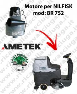 BR 752 MOTEUR ASPIRATION LAMB AMETEK pour autolaveuses NILFISK