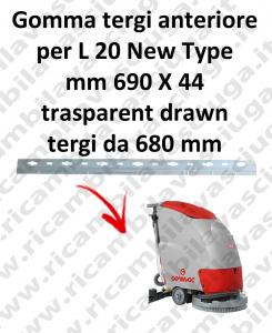 L 20 New Type BAVETTE AVANT pour COMAC  rechange autolaveuses suceur
