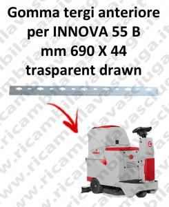 INNOVA 55 B BAVETTE AVANT pour COMAC rechange autolaveuses suceur