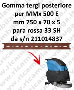 MMx 500 et BAVETTE ARRIERE pour FIMAP  rechange autolaveuses suceur