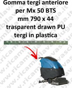 Mx 50 BTS BAVETTE AVANT pour FIMAP rechange autolaveuses suceur