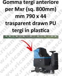 Mxr suceur 800 mm BAVETTE AVANT pour FIMAP rechange autolaveuses suceur
