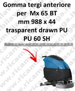 Mx 65 BT BAVETTE AVANT pour FIMAP rechange autolaveuses suceur