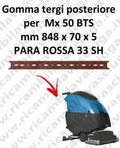 Mx 50 BTS BAVETTE ARRIERE pour FIMAP rechange autolaveuses suceur