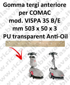 VISPA 35 B/E Vorne sauglippen Anti-Öl für scheuersaugmaschinen COMAC