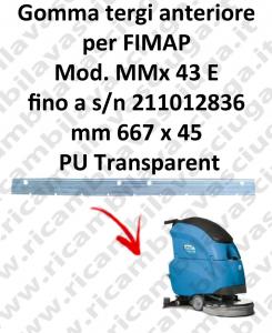 MMx 43 et jusqu'au numéro de série 211012836 BAVETTE AVANT pour FIMAP rechange autolaveuses suceur