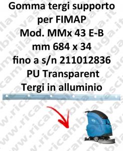 MMx 43 et jusqu'au numéro de série 211012836 BAVETTE soutien pour FIMAP rechange autolaveuses suceur