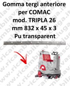 TRIPLA 26 Vorder Sauglippen für scheuersaugmaschinen COMAC