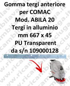 ABILA 20 da s/n 109000128 BAVETTE AVANT pour COMAC rechange autolaveuses suceur