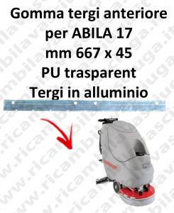ABILA 17 BAVETTE AVANT pour COMAC rechange autolaveuses suceur