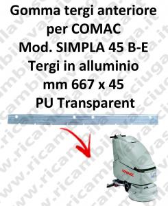 SIMPLA 45 B - et BAVETTE AVANT pour COMAC rechange autolaveuses suceur