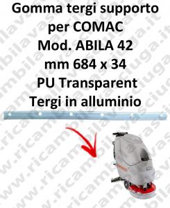 ABILA 42 BAVETTE soutien pour COMAC rechange autolaveuses suceur