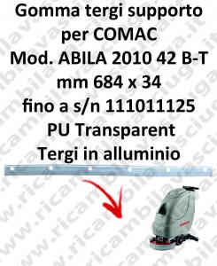 ABILA 42 B - BT jusqu'au numéro de série 111011125 BAVETTE soutien pour COMAC rechange autolaveuses suceur